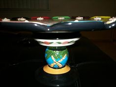 Water Ballet cake plate pedestal base.