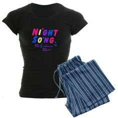 Night Song Pajamas by #MoonDreamsMusic #NightSong #pajamas #sleepwear #CarouselDreams