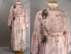 $110.00 Black Blood. #Zombie #Costume. #Vampire Bride Costume. Distressed Vintage 60s 70s Pink Dress. #Halloween Costume Size S XS 2 3 4 by #wardrobetheglobe on #Etsy