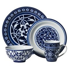 Love the color and pattern! They are more of a cobalt blue in person.  sc 1 st  Pinterest & Bobby Flay Dinnerware. I love it! | My Style | Pinterest ...