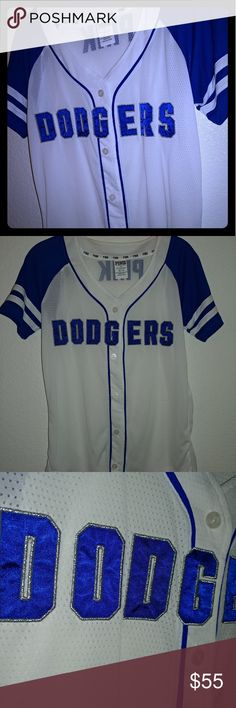 PINK Dodgers jersey Dodgers jersey by Victoria secret pink a6306457c63