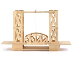 The Wooden Bridge Kit is a great educational item for the young and young at heart. Find more wooden model kits and DIY toys at Apollo Box! Trains, School Science Projects, Truss Structure, Famous Bridges, Apollo Box, Hobby Kits, Bridge Design, Natural Toys, Over The River