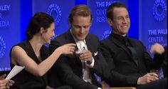 A Little Whiskey at #PaleyFest 2015 Cat, Sam and Tobias # Outlander