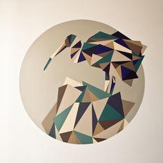 GEOMETRY by the Slovak artist ELISE JURKOVIC. More on valkonsky.com