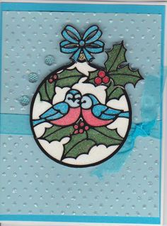 Elizabeth craft designs Christmas birds ornament