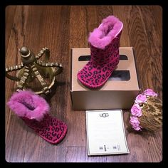 UGG's Australia infant Cassie leopard Brand new in box w authenticity 100% authentic all my items. Adorable infant hott pink Cassie leopard uggs  Size: 0/1 Xsmall 0-6 months  !!!Price is firm!!! Retail: $70 Selling on Mercari $41 UGG Other