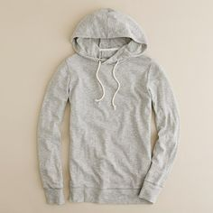 Perfect gray sweatshirt to pair with deep blue distressed jeans!