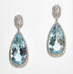 acquamarine, diamonds and white gold