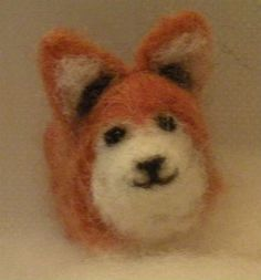 Needle felted corgi :)  Cute! #tutorial #felt