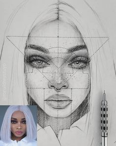 How to draw face proportions Face Proportions Drawing, Realistic Face Drawing, Neck Drawing, Cool Art Drawings, Pencil Art Drawings, Art Drawings Sketches, Eye Drawings, Portrait Sketches, Portrait Art