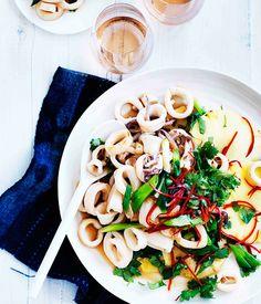 Andaman island squid and pineapple salad :: Gourmet Traveller Magazine Mobile