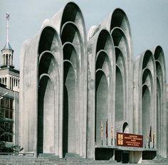 """Amazing concrete construction """"Andropov's Ears"""" - O.Kalandarishvili and G. Potskhishvili, Tbilisi (1983)"""