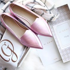 Using the excuse that I'm marrying an Italian for these handmade beauts straight from Italy Every girl needs a pair of pretty pink flats, right?! Linking up lots of other metallic and pink loafers/fla (Best Blush Breakfast)