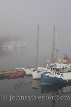 Bay of Fundy;Canada;Grand Manan Island;New Brunswick;North Head;fishing;fishing boats;fog;harbour;landscape;reflection;scenic;seascape