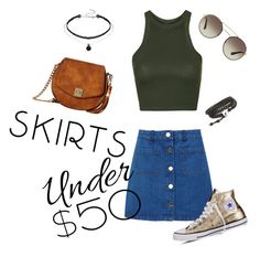 Summer kit!! by joziee on Polyvore featuring polyvore fashion style Topshop Miss Selfridge Converse Gabriella Rocha Prada clothing under50 skirtunder50