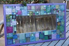 Wow, this beautiful mirror/kids classroom art project would fetch a good price at school auction!