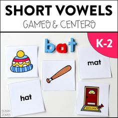 Tons of phonics games and activities for consonant blends, long vowels, short vowels, and digraphs! See all the different games this teacher plays with her K-2 students!