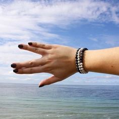 Life is better by the water with my Moon Bracelets :)