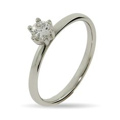 Eve's Addiction Brilliant Cut CZ Stackable Ring - * adorable petite solitaire (5mm stone) *
