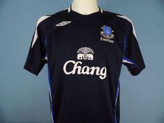 Authentic Everton 2007-08 Training Shirt L Large Umbor Navy chang