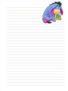 Free Printable Disney& Winnie the Pooh& Friends Easter Stationary Printable Lined Paper, Free Printable Stationery, Printable Recipe Cards, Imprimibles Toy Story Gratis, Paper Toy, Disney Cards, Disney Printables, Winnie The Pooh Friends, Disney Scrapbook