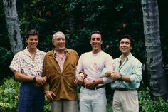 Anthony Quinn, surrounded by his three sons, Daniel Quinn, Italian painter and sculptor Lorenzo Quinn, and the late Italian and American actor Francesco Quinn Golden Age Of Hollywood, Hollywood Stars, Old Hollywood, Father And Son, Mom And Dad, Lorenzo Quinn, Anthony Quinn, All In The Family, Celebrity Couples