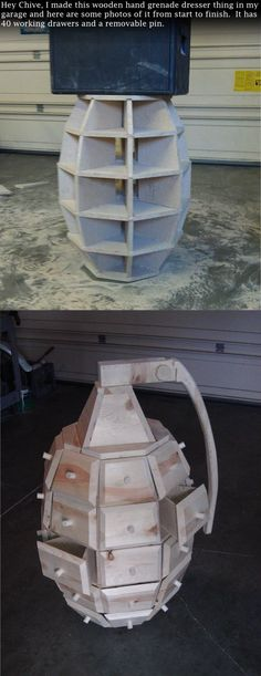 DIY Hand Grenade Dresser 5.00/5 (100.00%) 1 vote What do you guys think about this cool looking dresser? Is it functional? Thanks theChive