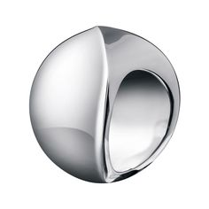 Calvin Klein Women's Domed Stainless Steel Fashion Ring (6), White