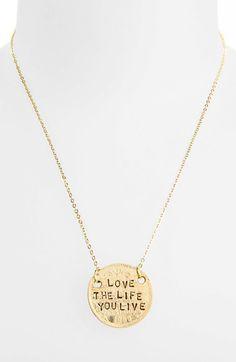 Alisa Michelle Designs 'Love the Life You Live' Pendant Necklace