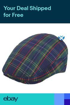 46bf1f1c41c Mens TARTAN Flat Cap - Scotland Scottish Hat Golf Football Rugby UK