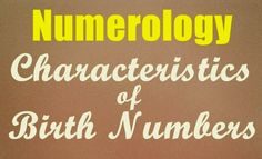 General Characters of Birth Numbers