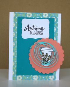 Handmade card by Helen F. using the Latte Love digital set from Verve. #vervestamps