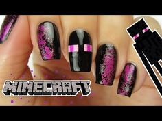 MINECRAFT ENDERMAN NAILS | CutePlay Countdown #1! - YouTube