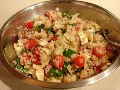 Quinoa salad with artichoke hearts #glutenfree