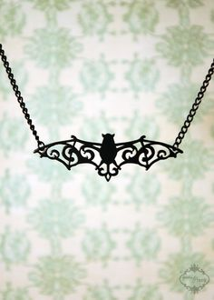 I absolutely love this filigree bat necklace! I think I'll be dropping Johnny some hints about this one...
