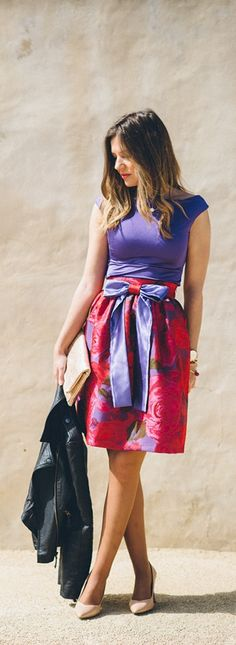 Bright and bold summer dress