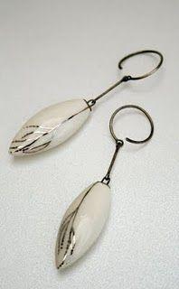 porcelain? earrings