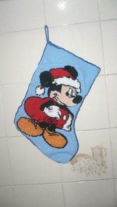 Bota bordado russo mickey natal
