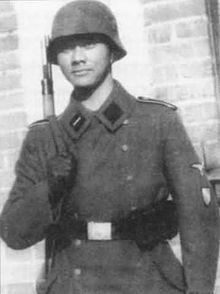 Waffen-SS foreign volunteers and conscripts - Indo-Dutch member of SS Volunteer Grenadier-Brigade Landstorm Nederland