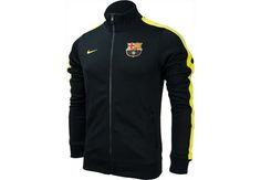 Nike Barcelona Authentic N98 Jacket - Black with Vibrant Yellow...Available at SoccerPro Now!