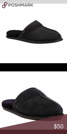 bbf73181c4d ... Men s Slippers Warm and luxurious (brand new in box) Men s Uggs slippers.  Plush sheepskin insole and premium wool fleece provides for all-day comfort  ...