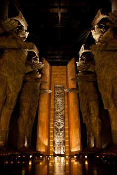 The entry lobby of the Grand Mayan Nuevo Vallarta