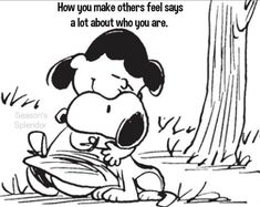 """Lucy: """"Thank you, Snoopy; for saving my life. I'm sorry for being so mean and crabby to you, and for calling you a 'beagle', too. Will you ever forgive me Snoopy Hug, Snoopy Comics, Snoopy Love, Charlie Brown Peanuts, Charlie Brown And Snoopy, Snoopy And Woodstock, Peanuts Cartoon, Peanuts Snoopy, Peanuts Characters"""
