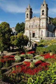 Sanctuary of Bom Jesus do Monte (Good Jesus of the Mount) in Tenões, Portugal.