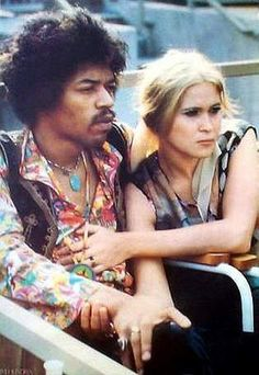 Jimi Hendrix & one of his lovers Monika Danneman
