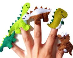 Zoo Animals Finger Puppets / Felt Children's by WithHugsandKisses
