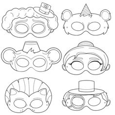 See 7 Best Images of Printable Circus Crafts. Printable Preschool Circus Crafts Kids Craft Circus Clown Printable Kid Paper Crafts Templates Circus Clown Face Printable Circus Tent Craft for Preschoolers Printable Halloween, Printable Masks, Printable Party, Carnival Activities, Carnival Crafts, Bear Mask, Lion Mask, Ringmaster Costume, Circus Costume