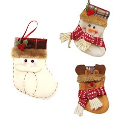 Non-woven Christmas Stocking Sock Santa Claus Christmas Gift Bags For Kids Tree Ornament Christmas Supplies Decoration