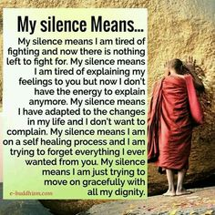 Strength Quotes : This sums up the INTJ doorslam kinda o.o just stumbled upon this lol (font inter Great Quotes, Me Quotes, Motivational Quotes, Inspirational Quotes, Quotes Instagram Bio, My Silence, Silence Quotes, Buddha Quote, Intj