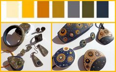 Saffron Spice: lavori realizzati per il Progetto Colori del gruppo Polymer Clay Italia -ottobre 2016